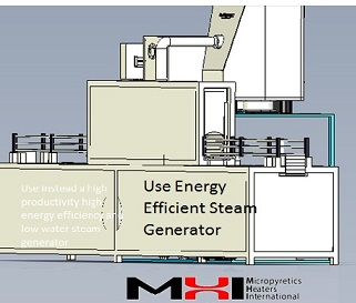 Use an OAB or energy efficient steam tunnel